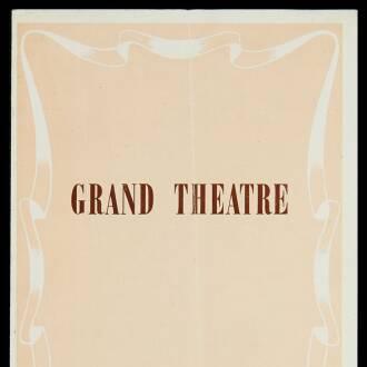 Grand Theatre, Blackpool, January 1952