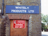 Whitely Products Ltd. Ravensbury Mill, Morden Road, Morden