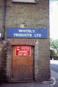 Whitely Products Ltd. Ravensbury Mill, Morden Road, Morden