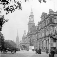 Southport, Lord Street, bank, library, clock tower