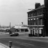 Miller's Bridge, Bootle - looking towards the docks