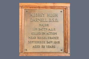 Memorial Plaque - Aubrey Hugh Darnell