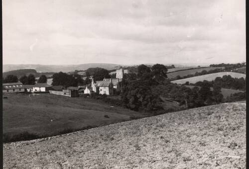 Views looking over Holcombe Burnell, c1950, Holcombe Burnell