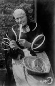 Widow Bignall, basket making, Mitcham