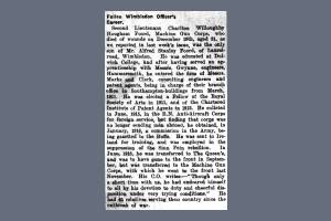 Newspaper Extract - Charlton Willoughby Hougham Foord