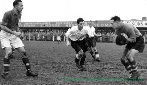 Hereford United action, 1950s.