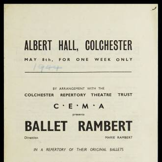 Albert Hall, Colchester, May 1944