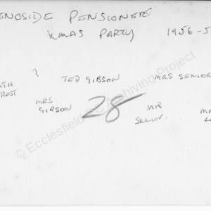 Grenoside Pensioners Christmas Party 1956-7  2  (Overleaf)