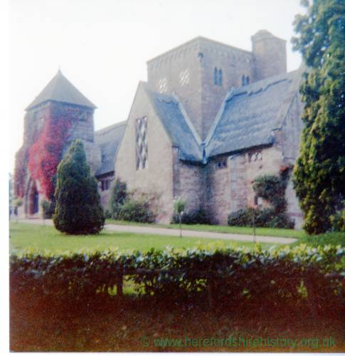 All Saints Church, Brockhampton, exterior, 1984