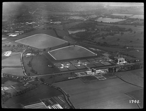 Aerial view of Kempton pumping. Stn. From the north west