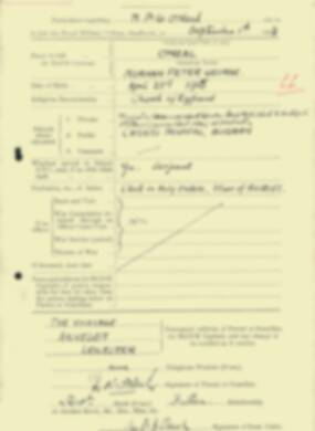 RMC Form 18A Personal Detail Sheets Feb & Sept 1933 Intake - page 258