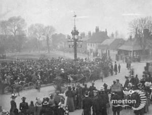 Unveiling of Mitcham clock tower by Salter Whiter J.P, Mitcham