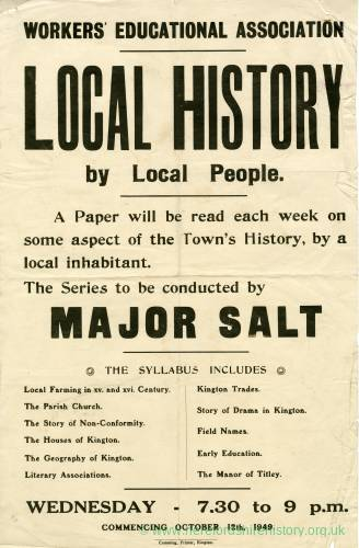 Local history by local people, Kington, 1949