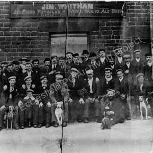 Grenoside The Angel Inn, group of men.