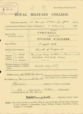RMC Form 18A Personal Detail Sheets Feb & Sept 1922 Intake - page 21