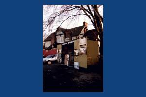 Croydon Road: Wagon near the Ravensbury Arms Pub