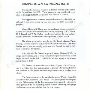 Chapeltown Swimming Baths - brochure for its opening in 1961 (page 9)