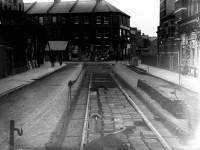 Merton Road, Wimbledon: Tram lines being laid