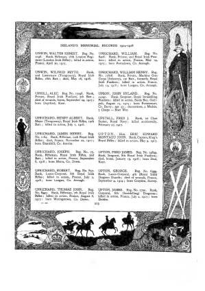 Walter Unwin Register of Ireland Casulaties WW1