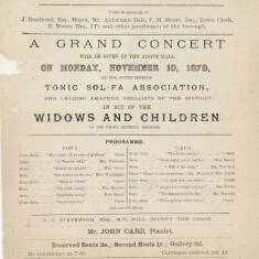 Grand Concert in Aid of Widows and Children
