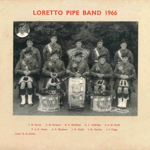 Loretto Pipe Band 1966
