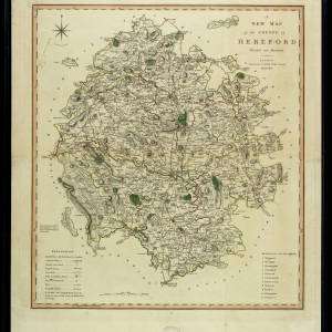 A New Map of the County of Hereford 1801