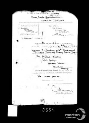 Service Record - Lawrence John Horsley