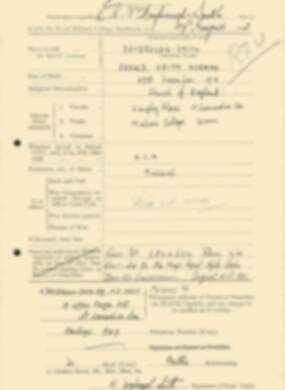 RMC Form 18A Personal Detail Sheets Feb & Sept 1933 Intake - page 190