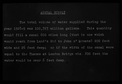 Annual supply total volume 1928/29