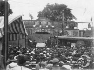 Meeting on Fair Green against the abolition of the fair