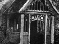 St. Mary's, Merton: Ornate wooden doorway