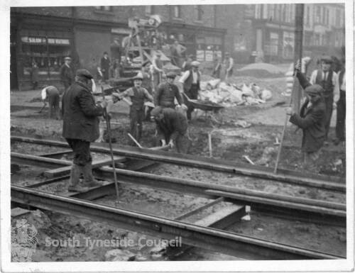 Working On Tram Lines, South Shields