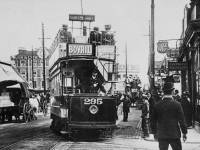 London United Tram turning into St. George's Road, Wimbledon