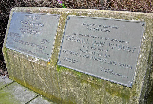 Thelwall Viaduct plaques