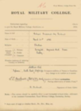 RMC Form 18A Personal Detail Sheets Jan 1915 Intake - page 54