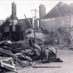 Albany Street and Marlborough Street,corner of, bomb damage