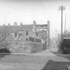 Bomb damage on Derby Terrace