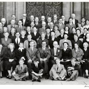 Three Choirs Festival, Hereford Chorus Contingent, Conductor Dr Meredith Davies, Worcester, 1954