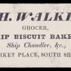 T H Walker, Grocer