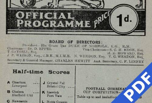 19490319 Official Programme Millwall Away FCC