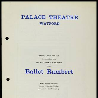 Palace Theatre, Watford, February 1963