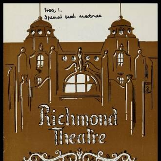 Richmond Theatre, London, January 1970
