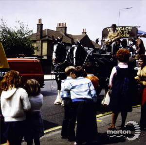 Young's Brewery Dray, Mitcham Carnival Procession