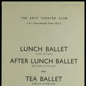 Arts Theatre Club, London, November 1940