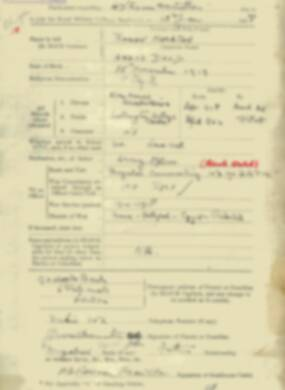 RMC Form 18A Personal Detail Sheets Jan & Sept 1920 Intake - page 1
