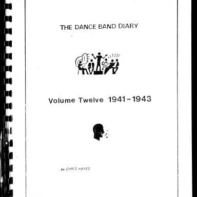Dance Band Diaries Volume 12 1941-1943
