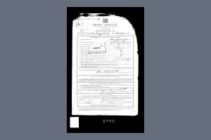 J Keates Enlistment Document