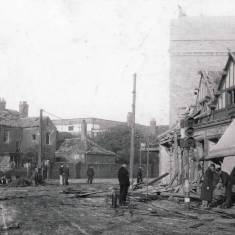 Bomb damage to Dean Road