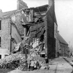 Bomb damage on Back Derby Terrace