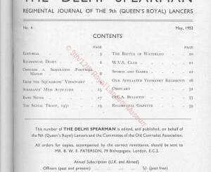 9th Lancers, 1952